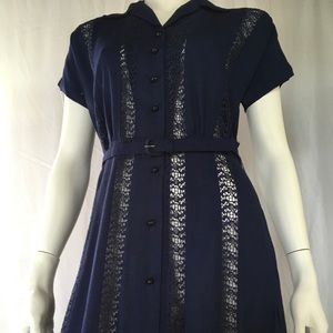Dresses & Skirts - 1950 vintage navy dress